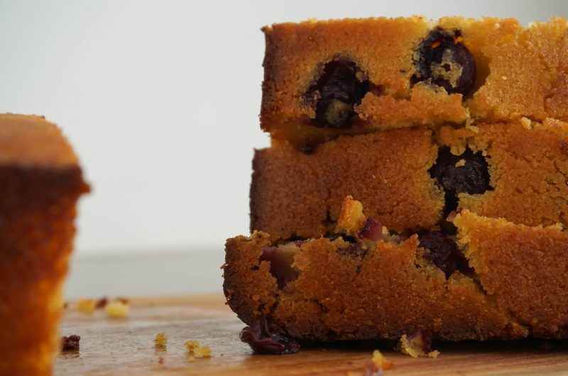 Lemon Blueberry Polenta Bread