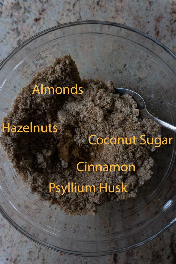 Dry ingredients for baking in a bowl