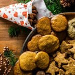 German Gingerbread on a platter with Christmas cookies
