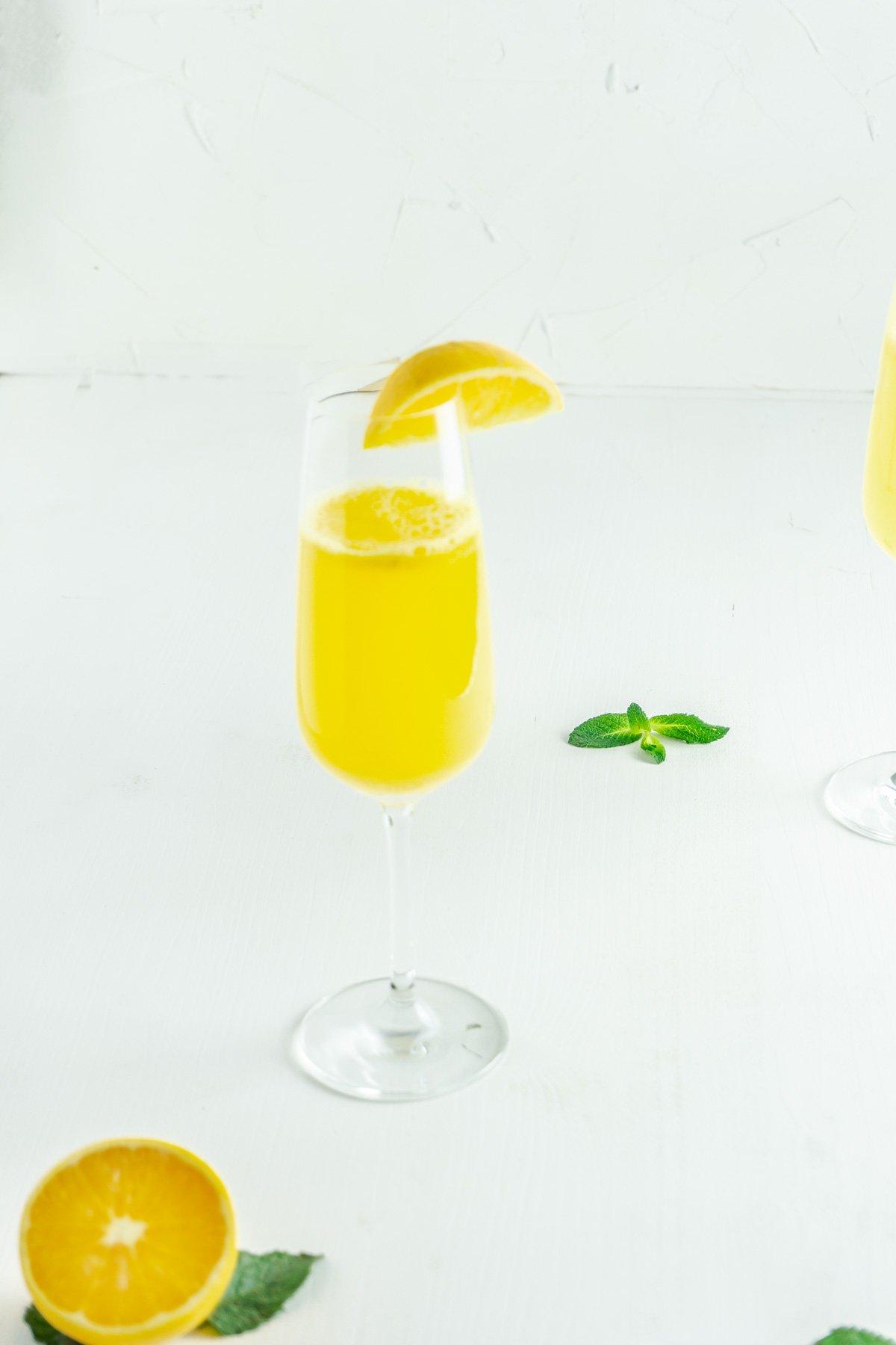 Ginger-Orange Mocktail on a white background