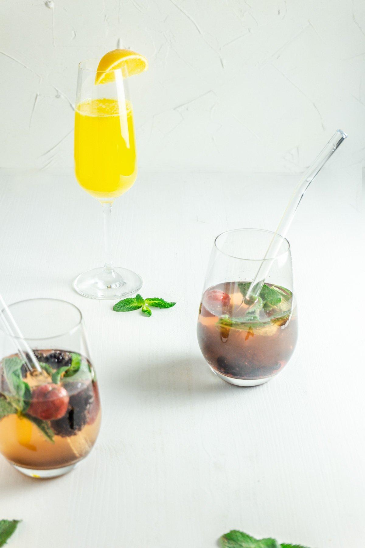 Ginger-Orange and Mint-Berry Mocktail