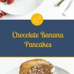 Chocolate Banana Pancakes - Pinterest Picture