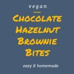 Chocolate Hazelnut Brownie Bites - Pinterest Picture