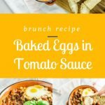 Baked Eggs in Tomato Sauce - Pinterest Image