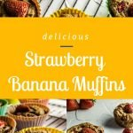 Strawberry Banana Muffins - Pinterest Image