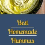 Best Homemade Hummus - Pinterest Image