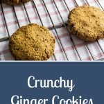 Crunchy Ginger Cookies - Pinterest Image