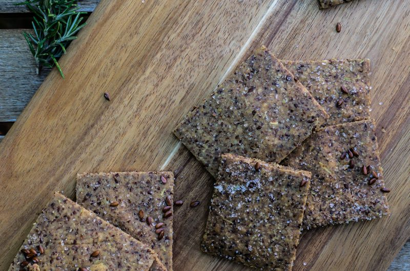 Easy Peasy Flax Seed Crackers