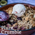 Plum Crumble - Pinterest Image