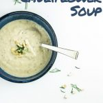 Roasted Cauliflower Soup - Pinterest Image