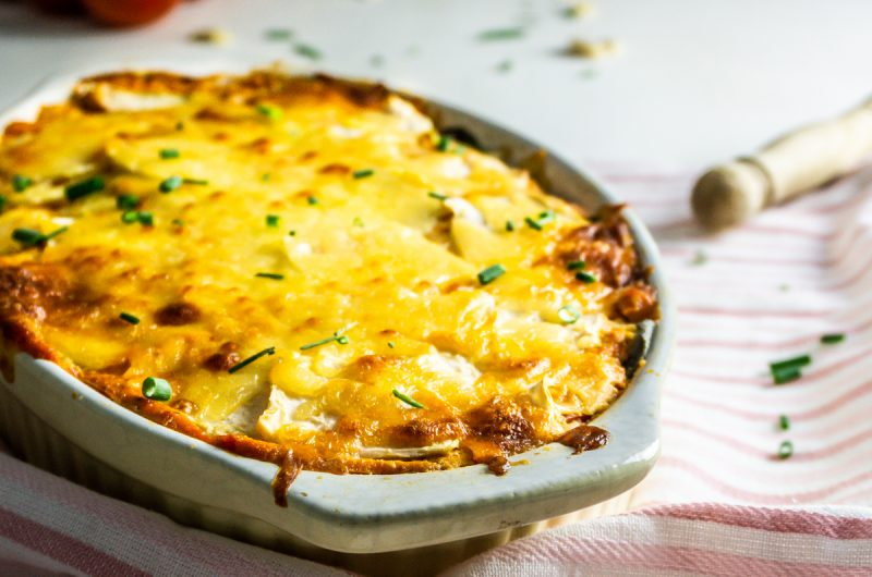 Kohlrabi Casserole with Tomatoes and Sage