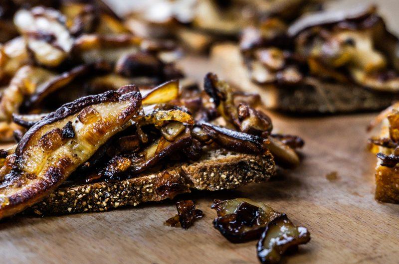 Rustic Mushroom Bruschetta