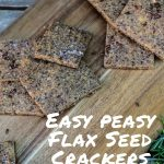 Easy Peasy Flax Seed Crackers - Pinterest
