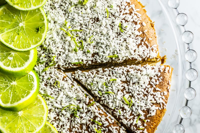 Very Coconutty and Lime Naked Cake