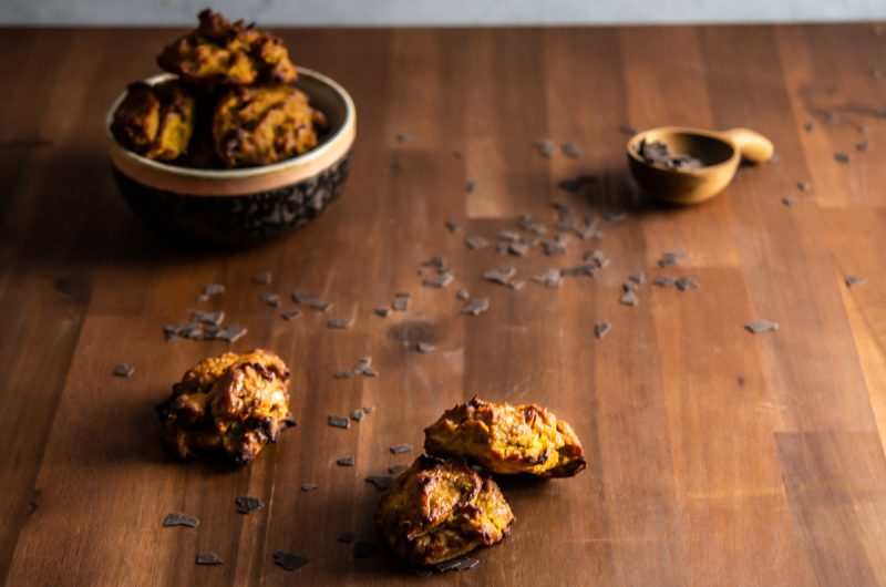 Chewy Pumpkin Spice Chocolate Chip Cookies