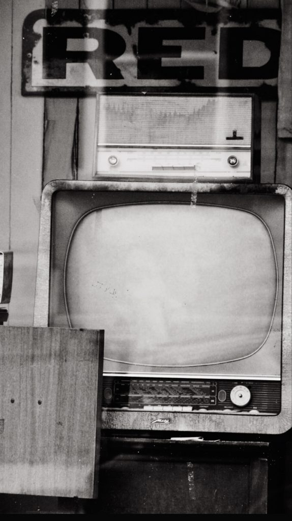 Old TTV and radio. Watching too much stimulating TV at night is counter-productive to establish a good sleeping routine.