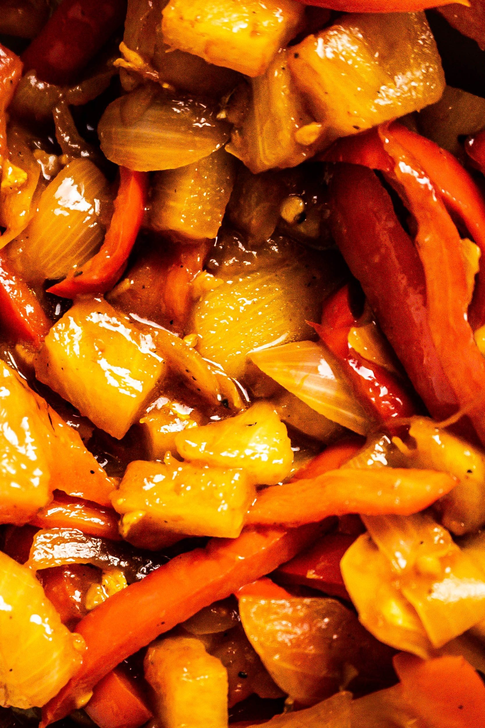 Chinese Sweet and Sour (Sauce) photographed up close