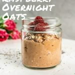 Chocolate Raspberry Overnight Oats - Pinterest Image