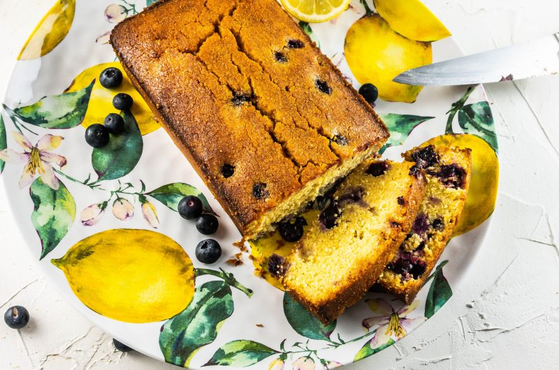 Lemon Blueberry Polenta Bread