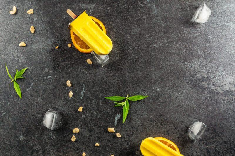 Orange Creamsicle Popsicles