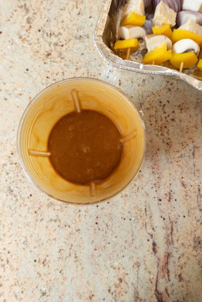 Sauce for Vegan Grilled Kebab Skewers blended together