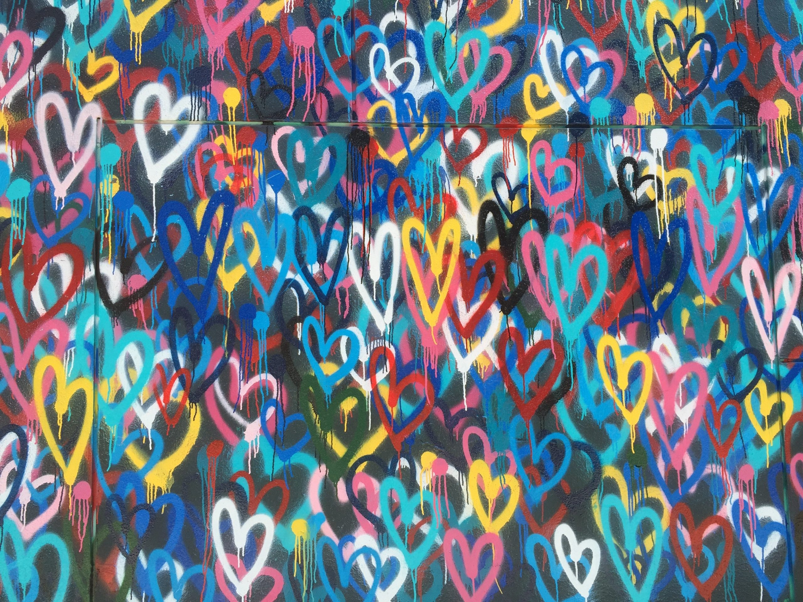 Murial wall of hearts